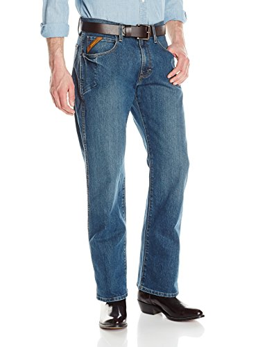Ariat Men's M4 REBAR Low Rise Bootcut Stretch Jean, Carbine, 36x32