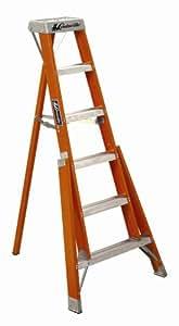 Louisville Ladder FT1004 300-Pound Duty Rating Fiberglass Tripod Ladder, 4-Foot