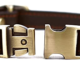 CHEDE Luxury Real Leather Dog Collar- Handmade For Small Dog Breeds With The Finest Genuine Leather-Best Quality Collar That Is Stylish ,Soft Strong And Comfortable-Brown Dog Collar