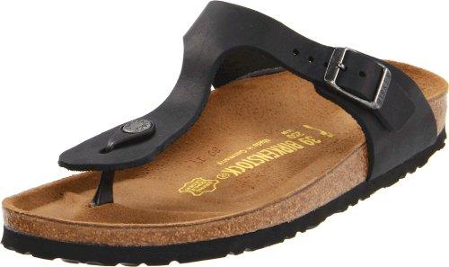 Birkenstock Women's GIzeh Thong Sandal, Black Oiled, 37 M EU/6-6.5 B(M) US ()