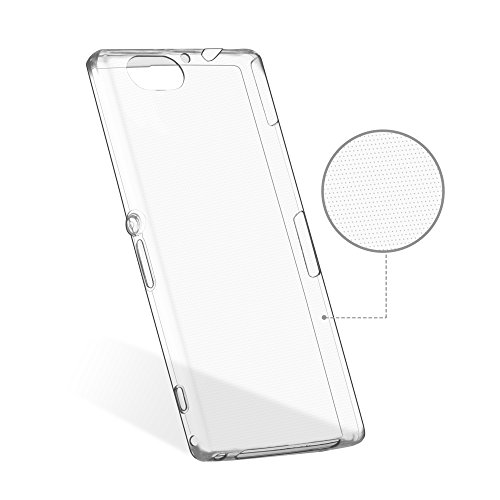 OKCS® TPU Hülle Case Schutzhülle für Sony Xperia Z2 Compact inklusive Wunderglass Panzerglas Screenprotector Schutzfolie Displayschutz Glasprotector