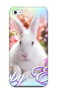 New Premium ZippyDoritEduard Happy Easter Rabbit Skin Case Cover Excellent Fitted For Iphone 5c