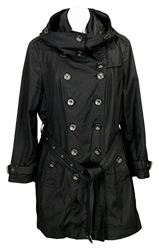 Burberry Brit Hooded Trench Coat with Warmer Black 14 UK 12 US (Burberry Quilted Jacket)