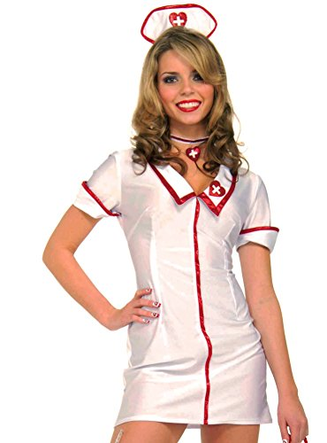 [Forum Novelties Women's Nurse Costume, White, Standard] (Womens Nurse Halloween Costumes)