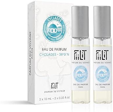 fiilit Perfume del Viaje – Recambios – Estuche de viaje agua de perfume Cyclades 38 ° 3 n para la caja de equipaje de madera: Amazon.es: Belleza