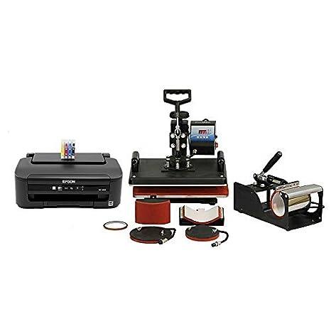 PixMax 5 en 1 Combo Calor Prensa con Impresora sublimación Blanks ...