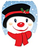 Toilet Tattoos TT-X618-O Snowman with Top Hat Decorative Applique For Toilet Lid, Elongated