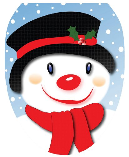Toilet Tattoos TT-X618-O Snowman with Top Hat Decorative Applique For Toilet Lid, Elongated by Toilet Tattoos