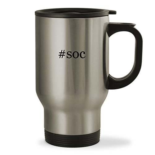 Price comparison product image #soc - 14oz Hashtag Sturdy Stainless Steel Travel Mug, Silver