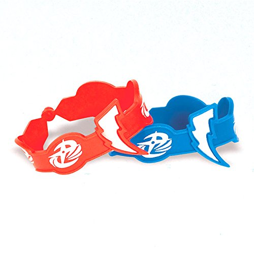 [Power Rangers Dino Charge Rubber Bracelet Favors (4 Pack) - Party Supplies] (White Dino Ranger Costume)