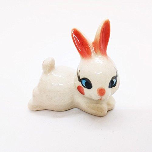 Rabbit Girl Cute Ceramic Toy Kids Handmade Figurine Animals Miniature