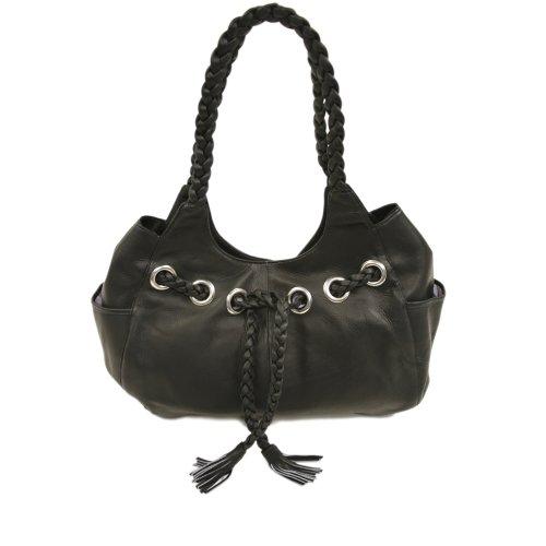 One Saddle Leather Black Braided Piel Hobo Size Rw6I0qnOx