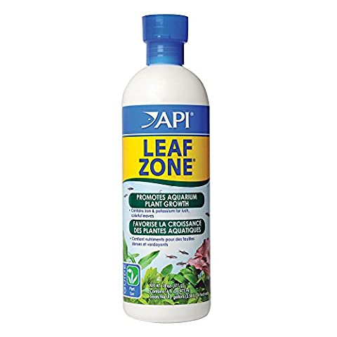 API LEAF ZONE Freshwater Aquarium Plant Fertilizer 16-Ounce Bottle - Liquid Plant Food