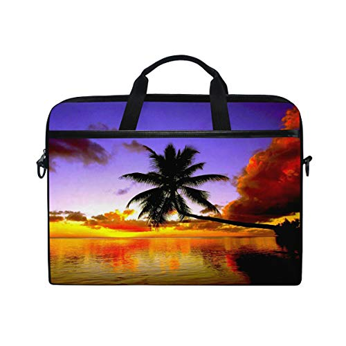 Wytloe Tropical Beach Palm Tree Laptop Messenger Bag Case Sleeve Suitable for 14