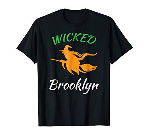 Wicked witch Brooklyn Halloween name costume party tshirt -