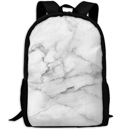Travel Backpack Laptop Backpack Large Diaper Bag - Natural White Marble Texture Backpack School Backpack For Women & Men by SAPLA