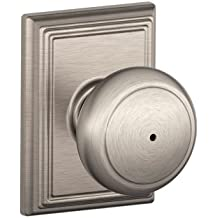 Schlage F40AND619ADD Addison Collection Andover Privacy Knob, Satin Nickel