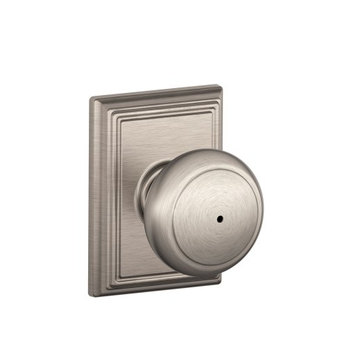 - Schlage Lock Company F40AND619ADD Addison Collection Andover Privacy Knob, Satin Nickel