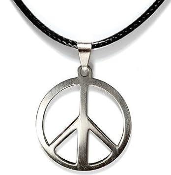 Unbekannt Peace Kette, Hippie Halskette (Gold, 3cm) OneClick Handelsunternehmen