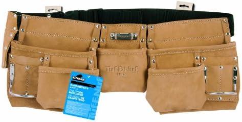 New Scaffolding Work Belt Tool Belt Heavy Duty Leather /& Nylon 2 in 1 /& 5 Pouch