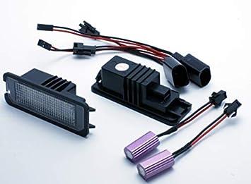 VINSTAR 2X Luces para MATRICULA LED Seat Leon 2 II MK2 CANBUS Lamp MATRICULA Targa: Amazon.es: Coche y moto
