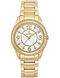 104SG2 Ip Gold Stainless Steel Watch with Mother of Pearl dial w/Swarovski Bezel
