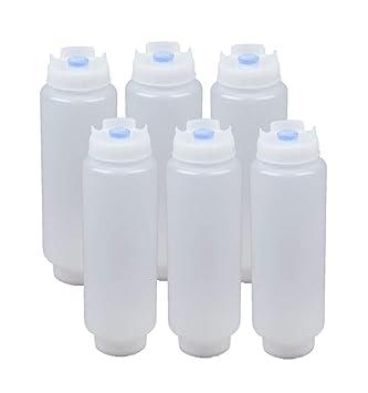 Amazon.com: FIFO Squeeze Botella rellenable 16 oz punta azul ...