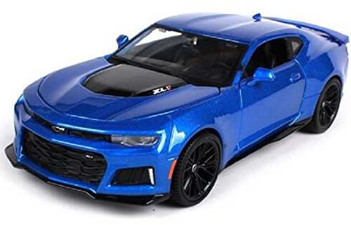 Special Edition Collection New 1:24 W/B SPECIAL EDITION - Blue 2017 Chevrolet Camaro ZL1 Diecast Model Car By Maisto
