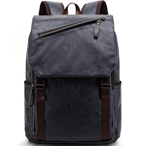 Bolso mochila de Piel para mujer azul turquesa