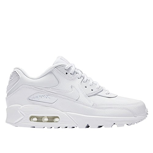 White Leather Nike Air Damen Weiß Gymnastikschuhe Max WMNS 90 qxZv8Pw