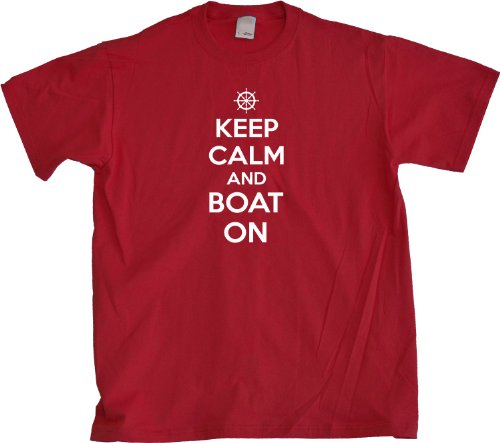 Ann Arbor T-Shirt Co. Men's Keep Calm and Boat On T-Shirt