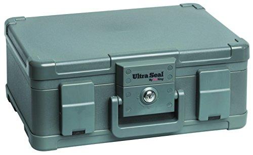 Aluminum Travel Cigar - FireKing ST103 Waterproof Portable Travel Humidor, 33 Cigar Capacity