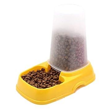 Kicode Creativo Durable Plástico Encantador Gato de Mascota Dispensador de Agua automático Alimentador de Plato de Plato de Comida para pequeño Cachorro ...