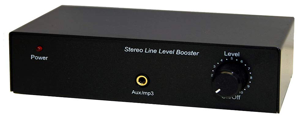 Mini High-Gain Stereo Audio Booster with Volume Control by AllAboutAdapters