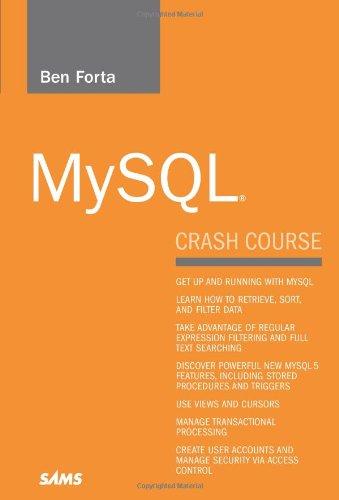 MySQL Crash Course ISBN-13 9780672327124