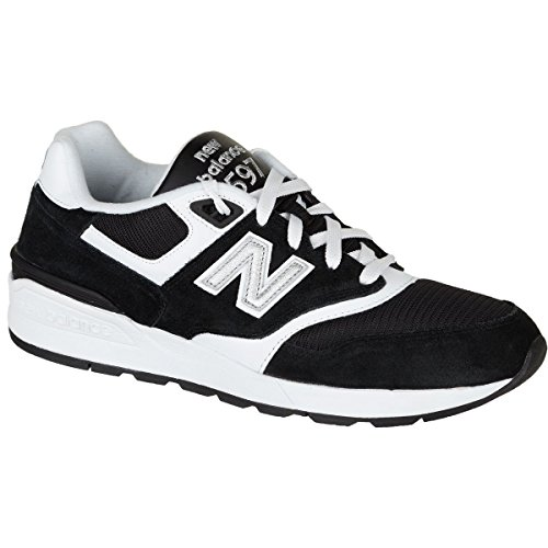 new product 45728 a652f New Balance Men's 597 Lifestyle Fashion Sneaker, Black/White, 9.5 D US