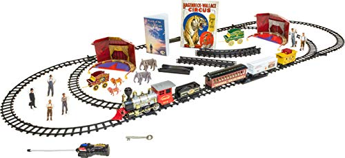Trains of Time Vol. 1-Remote Control Circus Train Set Including Historical Fiction Story Book & 3D Puzzle Structures & Characters Kits -