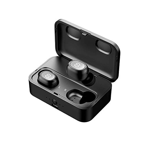 SoundPEATS True Wireless Bluetooth Earbuds in-Ear Stereo TWS Bluetooth Headphones Wireless Earphones (Bluetooth 5.0, 2600mAh Charging Case, 55 Hours Playtime, Built-in Mic) (Best Single Engine Plane For Long Distance)