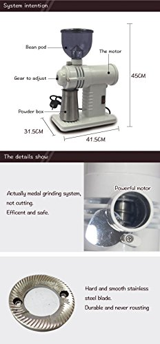 Chef Essentials Commercial coffee grinder Single origin pour coffee bean coffee bean machine Small round bladed disc (800A) by CHEF ESSENTIALS (Image #1)