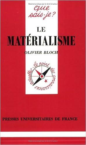 Livres Le Matérialisme pdf, epub ebook