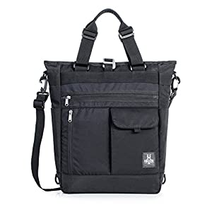 Shoulder Bag for Men, Convertible Crossbody Sling 13.3in laptop Backpack for Women Black Tote