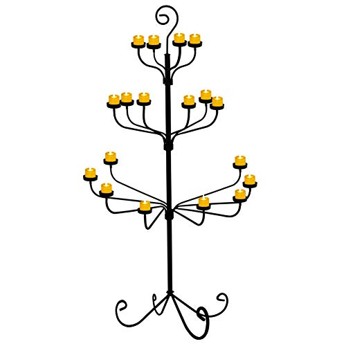 smtyle Tall Votive Candle Holders DIY 18 Floor Candelabra for Tealight Set Wedding Decor Large 70 inch with Black Iron ()