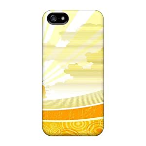 5/5s Scratch-proof Protection Case Cover For Iphone/ Hot Sunshine Widescreen Vector Phone Case by icecream design
