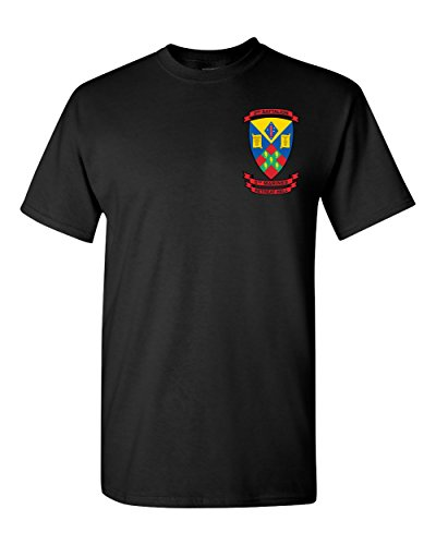 2nd Battalion 5th Marines USMC 2/5 Marines Corps Shirt (Black, 2XL) 2nd Battalion 5th Marines
