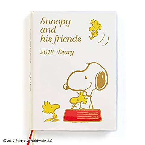Sanrio Snoopy B6 diary 2018 From Japan New (Dbz Character Guide)
