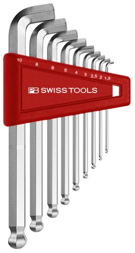 Price comparison product image PB Swiss Tools PB 2212H-10 Ballend hex wrench set stubby tip