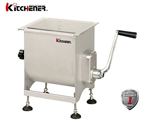 KITCHENER Heavy Duty Commercial Grade Electric Stainless Steel High HP Meat Grinder (Motorized/Manual Meat Mixer) by Kitchener