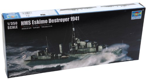 Trumpeter HMS Eskimo WWII British Tribal Class Destroyer Ship Model Kit (1941), Scale 1/350 (Wwii Ship)