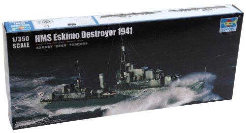 Trumpeter Hms WWII British Clase de tribal de esquimal Destroyer Kit de modelo de barco (1941), escala 1/350