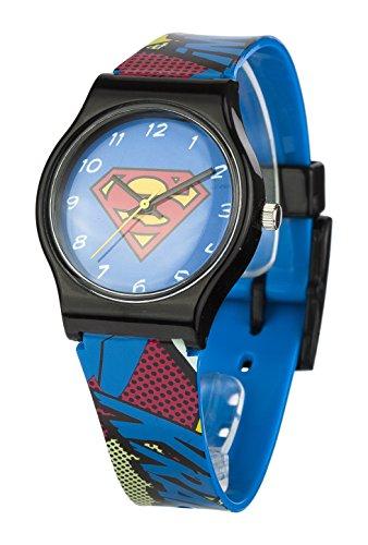 superman-childrens-quartz-analogue-display-wrist-watch-black-blue-red